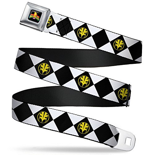 Diamond White Ranger Tigerzord Webbing - Seatbelt Belt Regular (Power Ranger Belt)