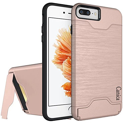 Price comparison product image iPhone 7 Plus Cases,iPhone 7 Plus Case,Case for iPhone 7 Plus,iPhone 7 Plus Back Case,Canica iPhone 7 Plus Hybrid Wallet Case Protective Hard Cover Skin Card Holder for iPhone 7 Plus