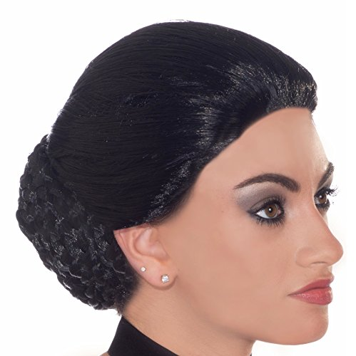 Forum Novelties Women's Spanish Dancer Wig, Black, One Size (Adult Spanish Dancer Costume)