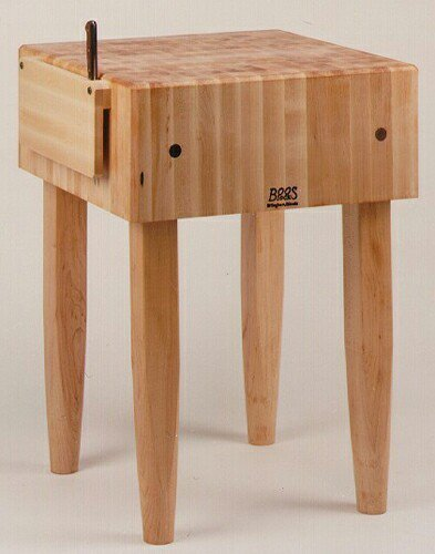 Pro Prep Block - Pro Chef Prep Table with Butcher Block Top Casters: Not Included, Size: 30
