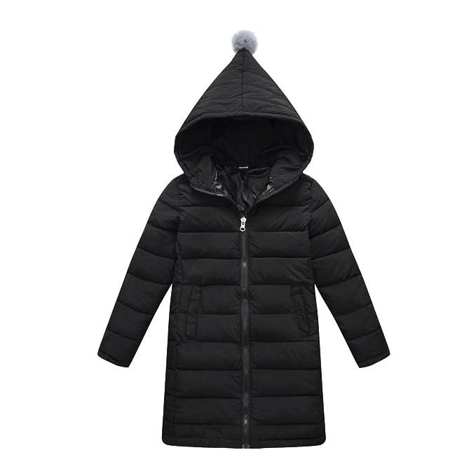 ESHOO niñas invierno abrigos y chaquetas ropa caliente abajo abrigo Parka cálida globo chaqueta Hoodies 3-14 años: Amazon.es: Ropa y accesorios