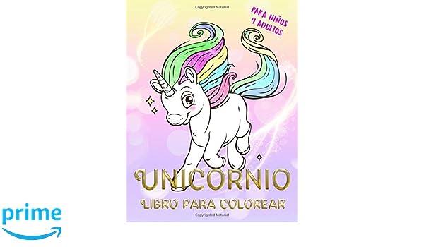 Unicornio Libro para colorear para niños y adultos: unicornio mágico ...