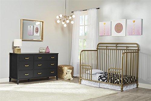 Bedroom Little Seeds Monarch Hill Hawken 6 Drawer Dresser, Black modern dressers