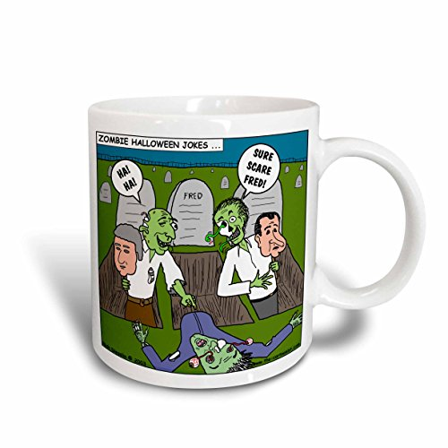 3dRose Halloween Zombie Practical Jokes Clinton and Nixon Masks Ceramic Mug, 15 oz, -