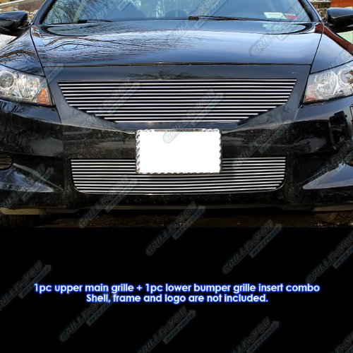 - Fits 08-10 Honda Accord Coupe Billet Grille Combo #H87760A