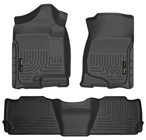 - Husky Liners Front & 2nd Seat Floor Liners Fits 07-14 Suburban 1500/Yukon XL1500