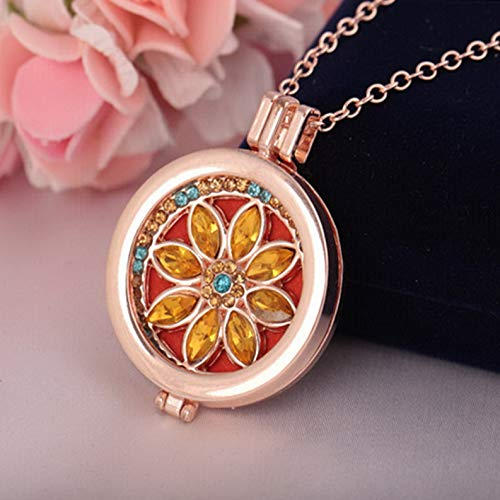 Mikash Living Memory Locket Fragrance Essential Oil Aromatherapy Diffuser Necklace HOT | Model NCKLCS - 38600 |
