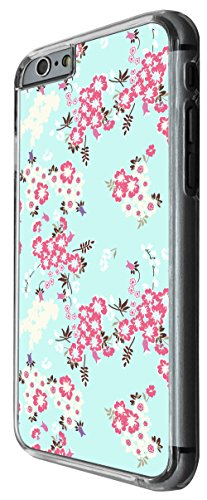 1171 - Floral Shabby Chic Blue Retro Roses Fleurs Design For iphone 4 4S Fashion Trend CASE Back COVER Plastic&Thin Metal -Clear