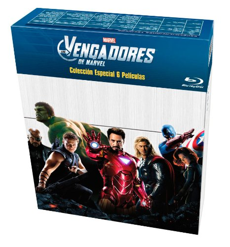 Los Vengadores: Colección 6 películas [Blu-ray]: Amazon.es: Samuel L Jackson, Robert Downey Jr, Chris Evans, Mark Ruffalo, Chris Hemsworth, Scarlett Johansson, Varios, Samuel L Jackson, Robert Downey Jr: Cine y Series TV