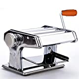 7'' Pasta Maker Machine-3 in 1 Stainless Steel Pasta Roller Maker Machine Cutter, 2 Cutting Die and Flat roller with Table Top Clamp for Spaghetti Noodle Lasagna Tagliatelle