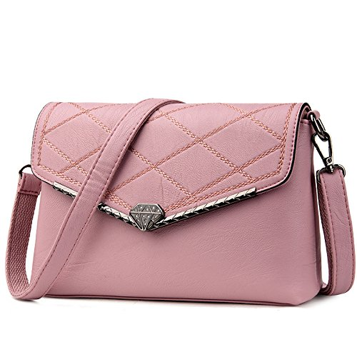 Middle aged Bag Fashion Pink Casual Bag Lady Retro Elegant Shoulder Diagonal fwaZnPIq