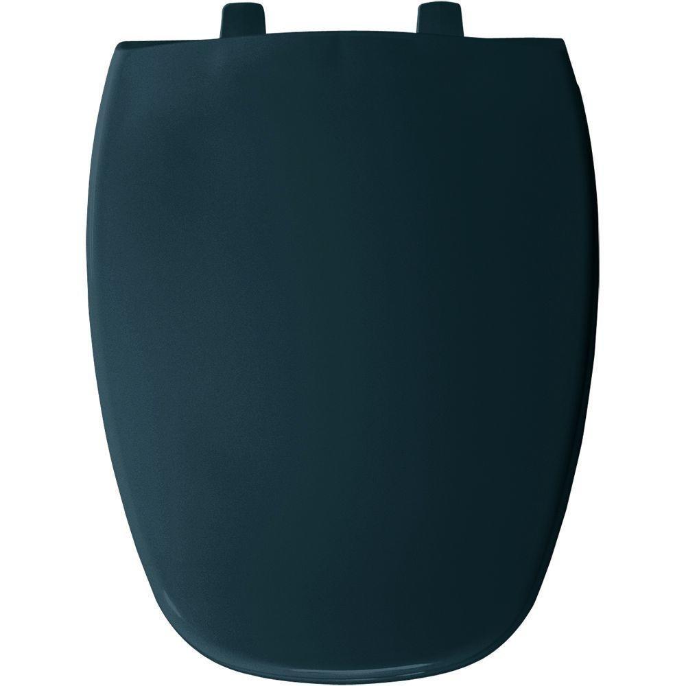 Black Bemis 1240205 047 Elongated Closed Front Toilet Seat