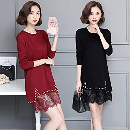 7a0a759b8c8d Amazon.com  Wanglele Lace Bottoming Shirt Spring Summer Autumn Lace ...