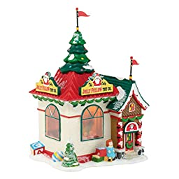 Department 56 North Pole Series Village Jolly Fellow Toy Lit House, 7.88-Inch