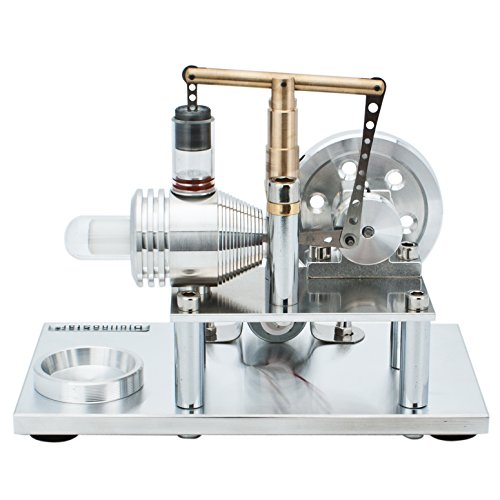 DjuiinoStar Super Stable Hot Air Stirling Engine(Solid Metal Construction), Electricity Generator(Light up LED), Ready to Run by DjuiinoStar (Image #2)
