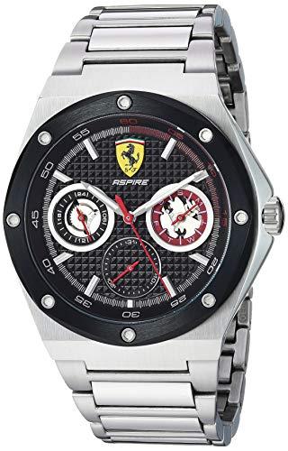 Ferrari Men's 'Aspire' Quartz 100 Stainless-Steel Watch, Color:Silver-Toned (Model: 0830535)