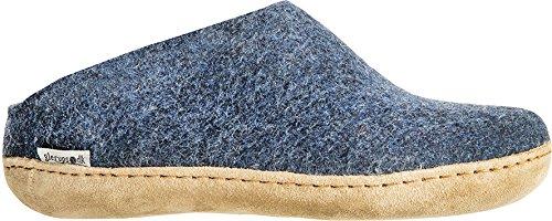 Glerups Unisex Model B Denim Slip-On Wool Slipper - EU 37