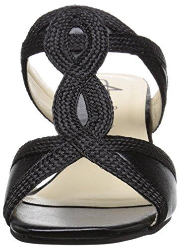 Annie Shoes Womens Adea Wedge Sandal Black ahebQs