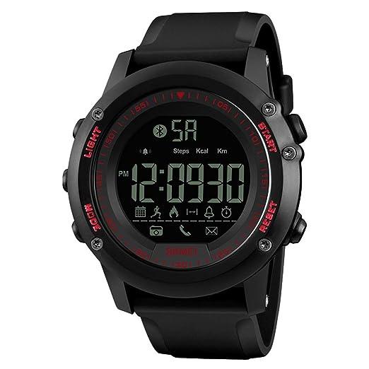 Impermeable Inteligente Hombre Deportivo Relojes/podómetro Deportes/Función Bluetooth/Luz LED(Red