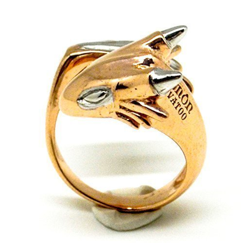 18ct rose gold plated dragon ring jewellery Rose Gold Dragon Ring by MONVATOO London adjustable band a free-size