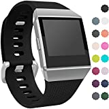 Wepro Fitbit Ionic Watch Band, Bands Replacement Sport Strap Accessory for Fitbit Ionic Smartwatch, Buckle, Black, Large