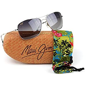 Maui Jim GS246-17 Wiki Wiki Polarized Sunglasses Silver Titanium Frame / Neutral Grey Lens