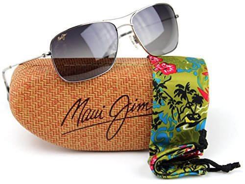 Maui Jim GS246-17 Wiki Wiki Polarized Sunglasses Silver Titanium Frame / Neutral Grey - Wiki Polarized Lenses