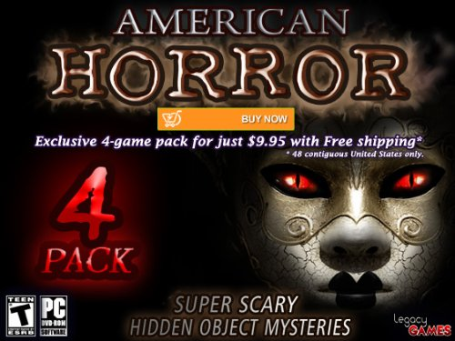 Amazon Com American Horror Super Scary Hidden Object Mysteries 4 Pack Video Games