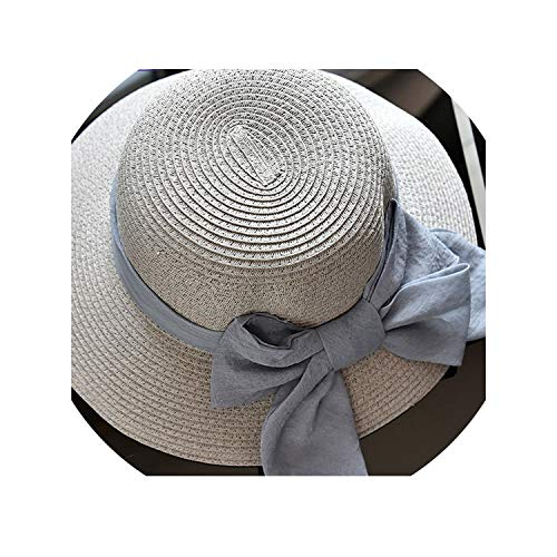 (Summer Hats for Women Arrival Ribbon Bow Knot Beach Hat Casual Sun Hats for Vacation,06)