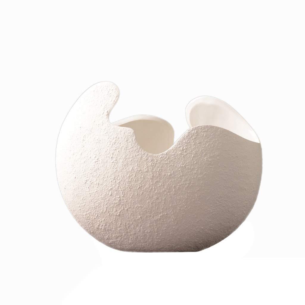 花瓶セラミック装飾現代のミニマリストのヨーロッパの家の柔らかい装飾の居間の装飾 HUXIUPING (Size : L) B07T641PTZ  Large
