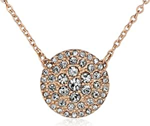 fossil glitz disc rose gold necklace 18 jewelry. Black Bedroom Furniture Sets. Home Design Ideas