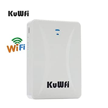 kuwfi una ranura de tarjeta SIM y un router WiFi RJ45 ...