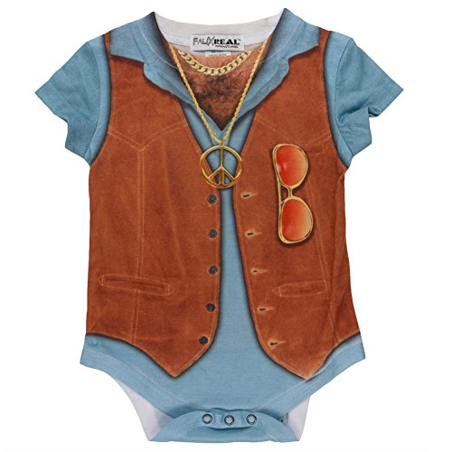 [Faux Real - '70s Vest Costume Infant Bodysuit - 6 month] (70s Couple Costumes)