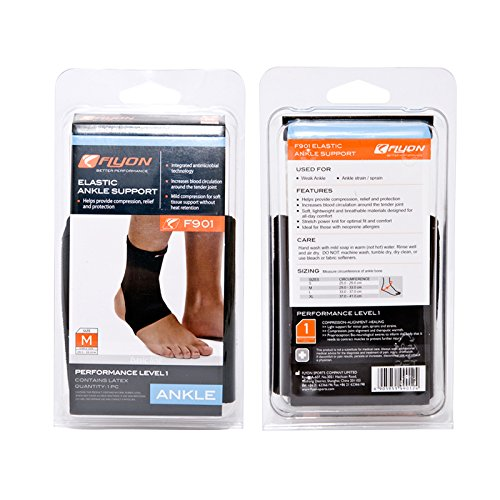FLYON Elastic Ankle Support Providing Compression and Support to Stiff, Weaker Injured Ankle
