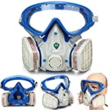 Muhubaih Full Face Respirator Mask DUAL Filter Air Protection Dust Breathing Gas Mask