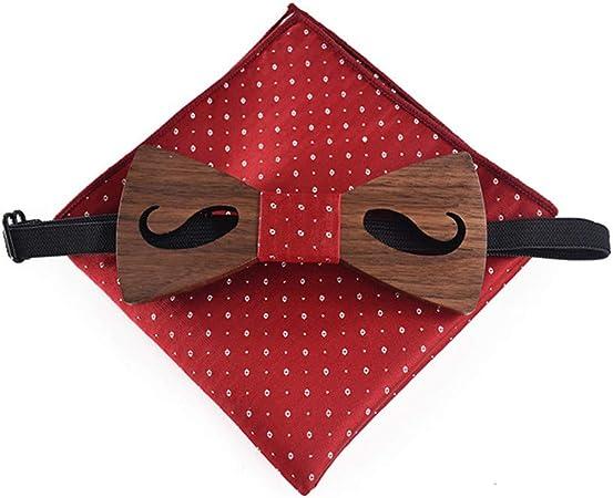 Pajarita de madera para hombre Adulto Barba Fiesta Traje de madera ...
