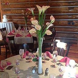 GTIDEA 20Pcs Fake PU Calla Lily Artificial Flowers Bride Wedding Bouquet for Table Centerpieces Arrangements Home DIY Garden Office Decor (Pink) 3