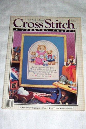 Cross Stitch & Country Crafts -- Mar/Apr 1989 Vol IV, No. 4 -- Anniversary Sampler, Easter Egg Tree, Seaside Series (Seaside Sampler)