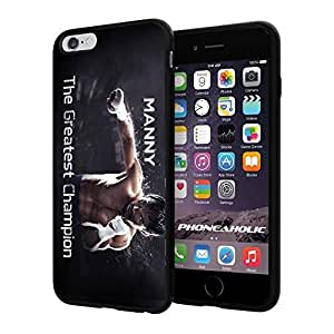 "Manny Pacquiao The Gretest Champion, Boxing, Boxer,Cool iPhone 6 Plus (6+ , 5.5"") Smartphone Case Cover Collector iphone TPU Rubber Case Black"