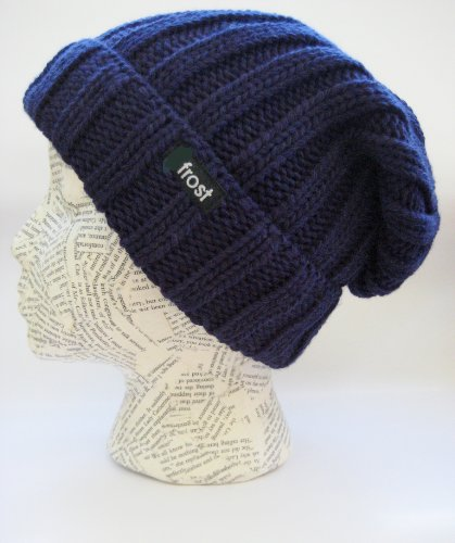 Invierno Unisex Slouchy Frost Beanie Sombreros Rolled de Puños Sombreros Azul Frost de gorro Otoño qwRIFxtX