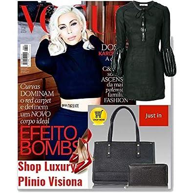1c64482858a2c VISONÀ Plinio Italienischer Designer Schwarzes Origami Leder Tasche    Geldbörse Set  Amazon.de  Schuhe   Handtaschen