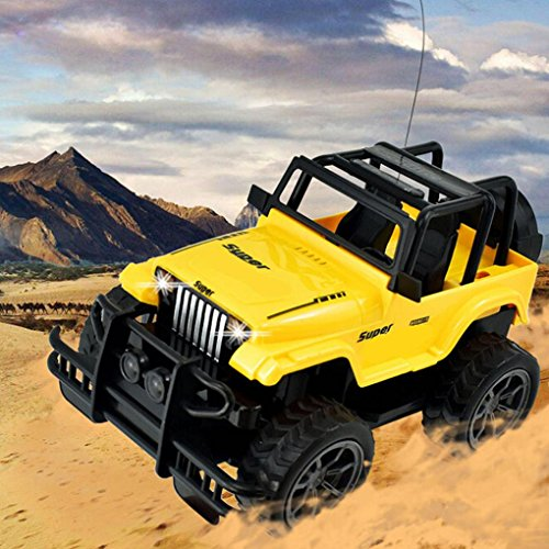 Inverlee Remote control 1:24 Drift Speed Radio RC Jeep Off-road vehicle Car kids Toy Xmas Gift for Children (As picture)