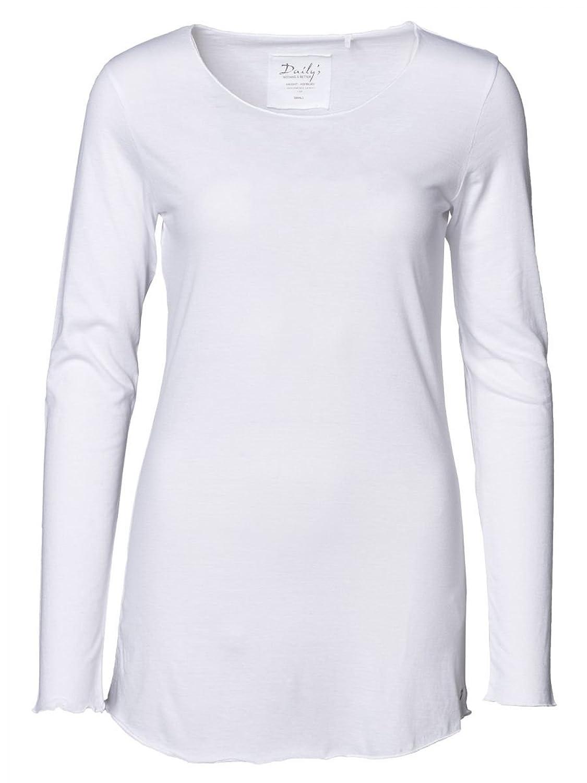 f69df014260e60 DAILY S KEILA Damen Langarmshirt mit Überlänge und Rundhalsausschnitt aus  Bio-Baumwolle - soziale fair trade
