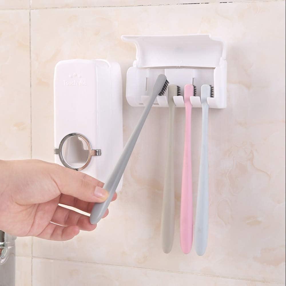 testine di Protezione con Montaggio a Parete Dispenser di dentifricio Antipolvere portaspazzolino Automatico Zeen
