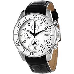 Rudiger Men's R2001-04-001.1L Chemnitz Silver Dial Chronograph Watch