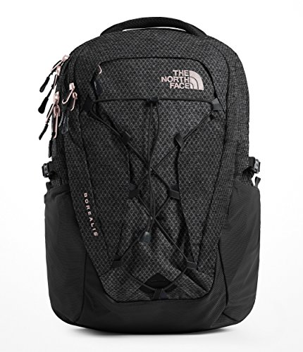 The North Face Women's Borealis Backpack - TNF Black Heather & Burnt Coral Metallic - OS by The North Face