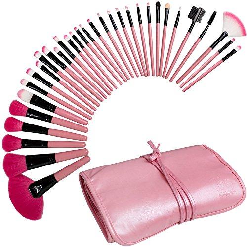 Best Professional Makeup Brushes Set - 32 Pc Cosmetic Foundation Make up Kit - Beauty Blending for Powder & Cream - Bronzer Concealer Contour Brush - Beauty Bon (Beauty 32 Set Makeup Piece)