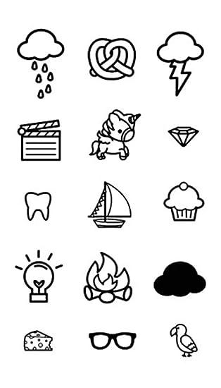 CCYX Tattoo stickers Tatuaje de transferencia de agua Minimalista ...