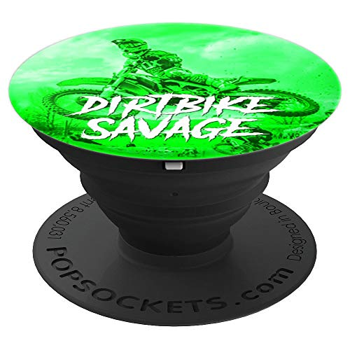 Dirt Bike Savage Motorcross Racing Dirtbike Rider - PopSockets Grip and Stand for Phones and Tablets ()