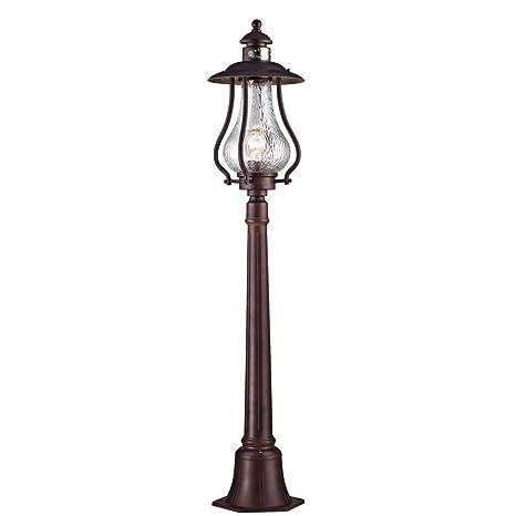 Vintage Clásica lámpara de pie FAROL, metal, cristal ...